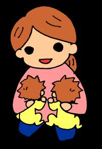 同時授乳(縦抱き)