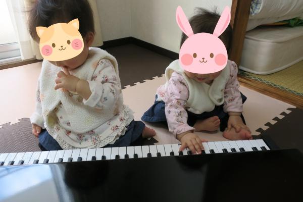 マイクロピアノで連弾